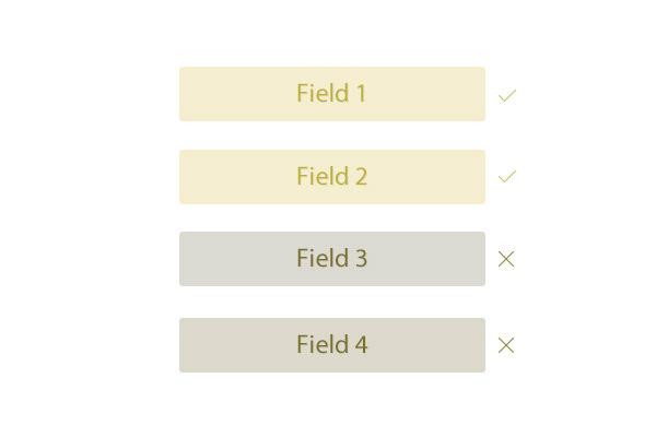 correct fields